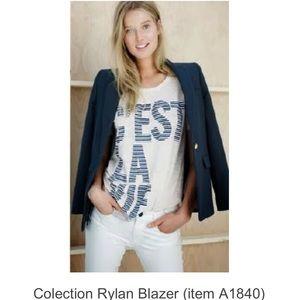 J.Collection Rylan Blazer Sz 4 navy
